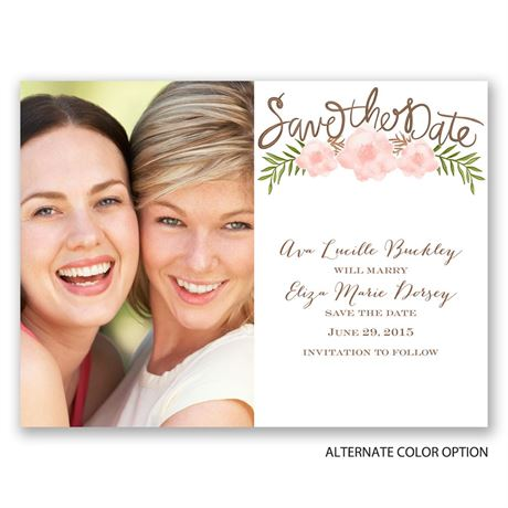Fetching Flowers - Save the Date Card