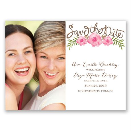 Fetching Flowers  Save the Date Card