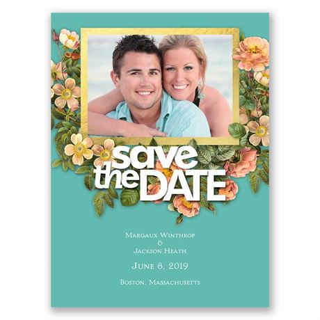 Vintage Garden  Save the Date Card