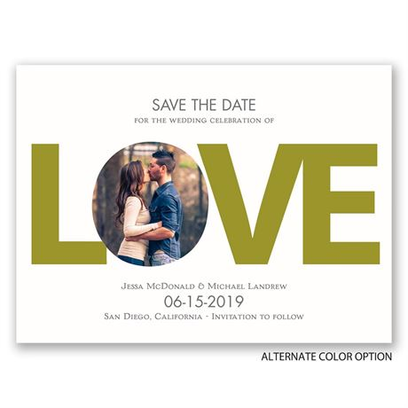 LOVE - Save the Date Card