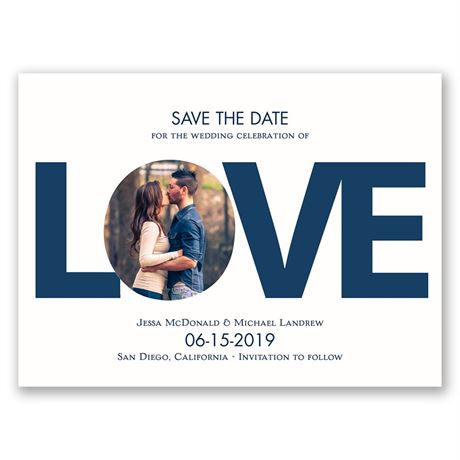 LOVE  Save the Date Card
