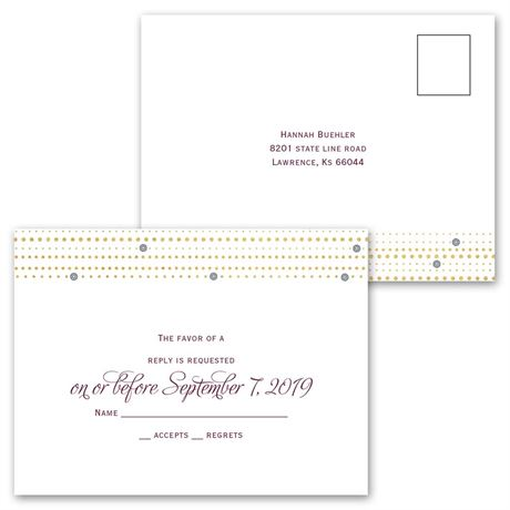 Gold Beads - All in One Invitation