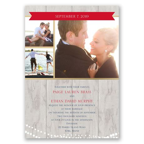 Country Lights  All in One Invitation