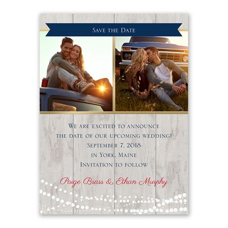 Country Lights - Save the Date Card