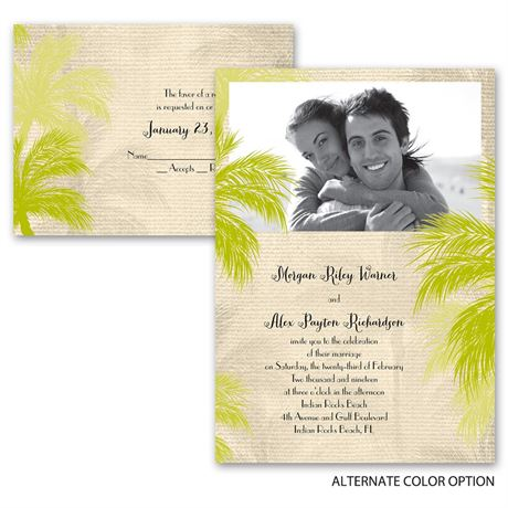 Island Beauty - Invitation with Free Respond Postcard