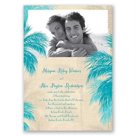 Island Beauty Invitation with Free Respond Postcard