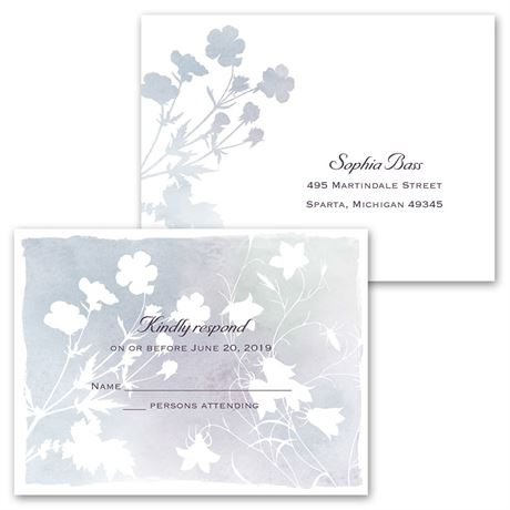 Wildflower Watercolor - All in One Invitation