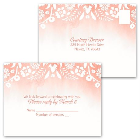 Garden Dreams - Invitation with Free Respond Postcard