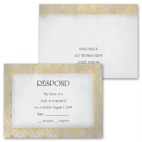 All Diamonds - Invitation with Free Respond Postcard
