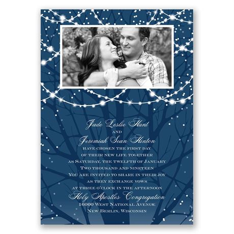 Romantic Lighting  All in One Invitation