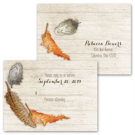 Woodland Feathers - All in One Invitation