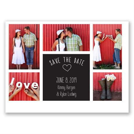Photo Love  Save the Date Card