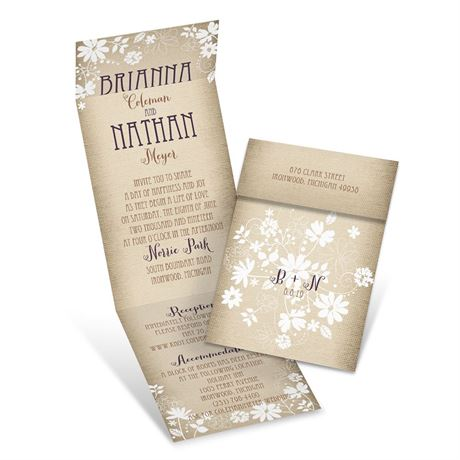 Country Charm - Invitation with Online Reply