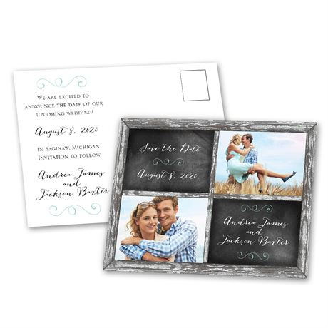 Window Frame - Save the Date Postcard
