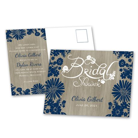 Rustic Chic - Bridal Shower Postcard