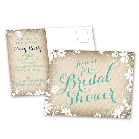 Country Charm - Bridal Shower Postcard