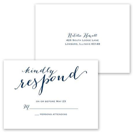 Keep it Simple - Invitation with Free Response Postcard