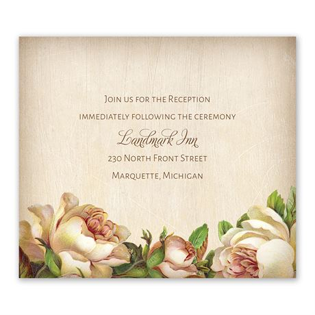 Antique Rose Information Card