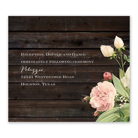 Rustic Floral Information Card
