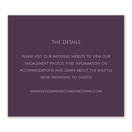 Simple Elegance - Information Card