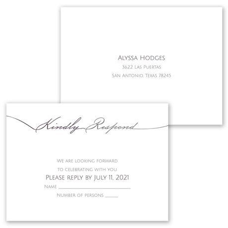 Simple Elegance - Invitation with Free Response Postcard