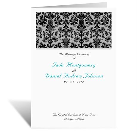 Clearly Refined  Wedding Program