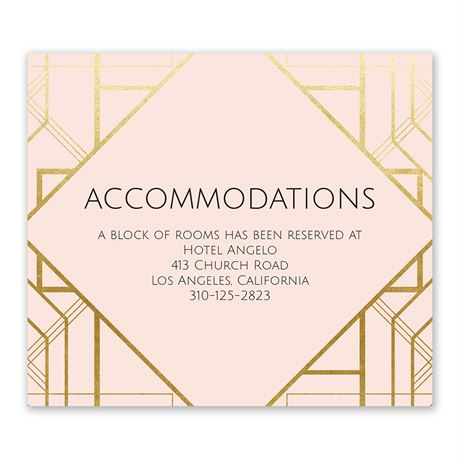 Art Deco Shine Information Card