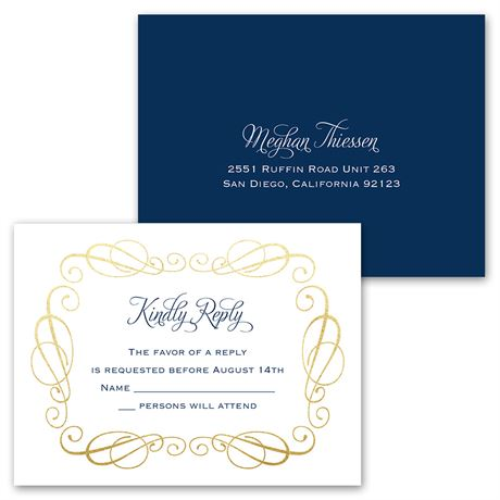 Total Class - Invitation with Free Respond Postcard