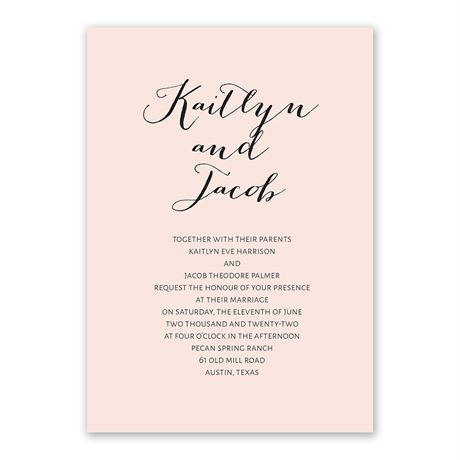 Minimalist Beauty - Invitation with Free Respond Postcard