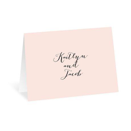 Minimalist Beauty - Thank You Card