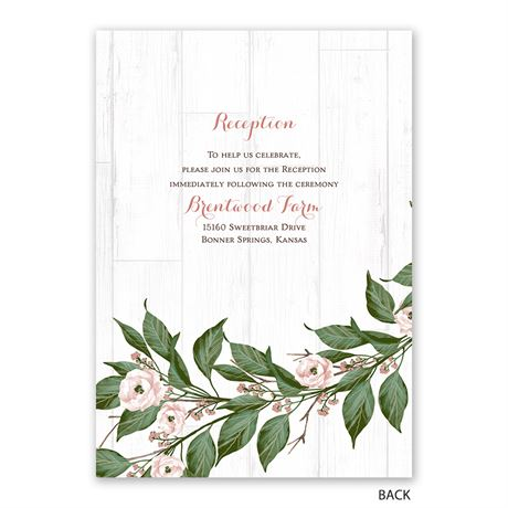 Farmhouse Floral - Invitation with Free Response Postcard