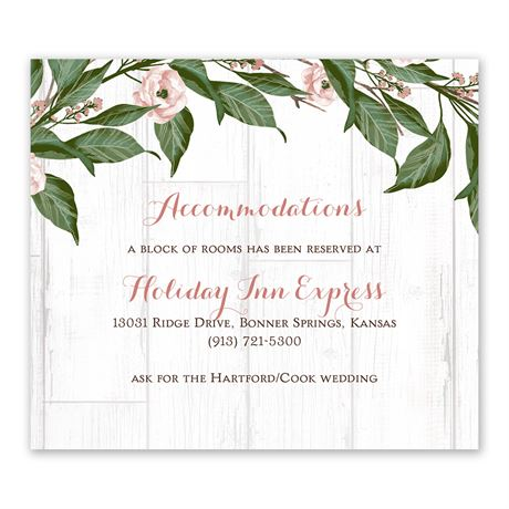 Farmhouse Floral - Information Card