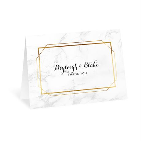 Modern Marble Thank You Card
