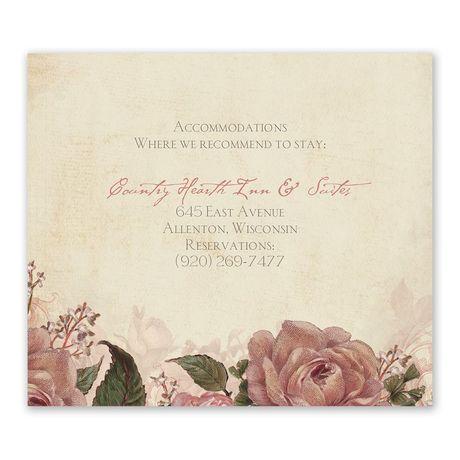 Vintage Roses Information Card