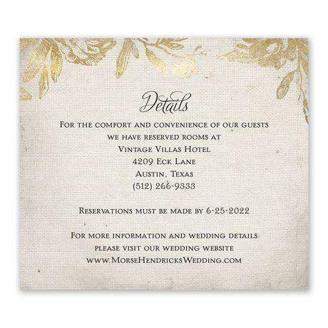 Rustic Glam Information Card Ann S Bridal Bargains