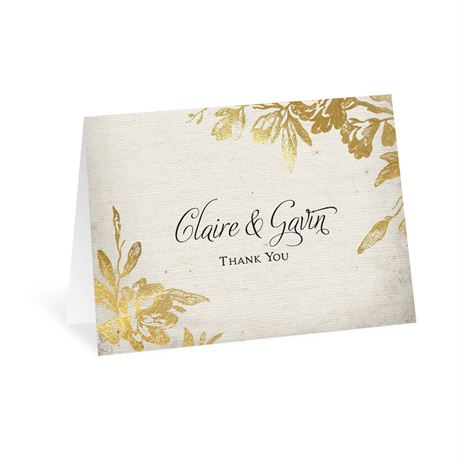 Rustic Glam - Thank You Card