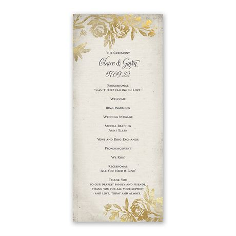 Rustic Glam - Wedding Program