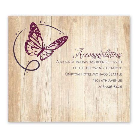 Butterfly Swirl - Information Card