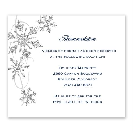Snowflake Sparkle Information Card