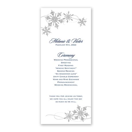 Snowflake Sparkle - Wedding Program