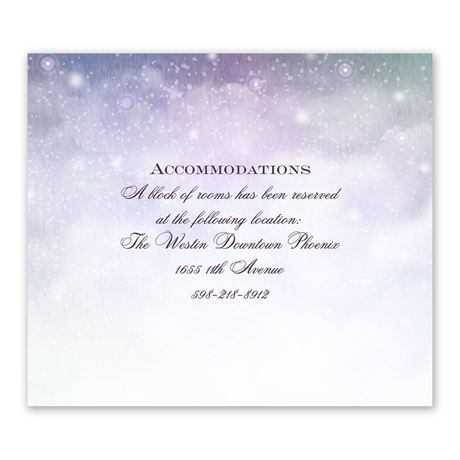 Our Fairy Tale Information Card
