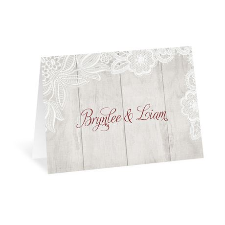 Weathered Lace Thank You Card