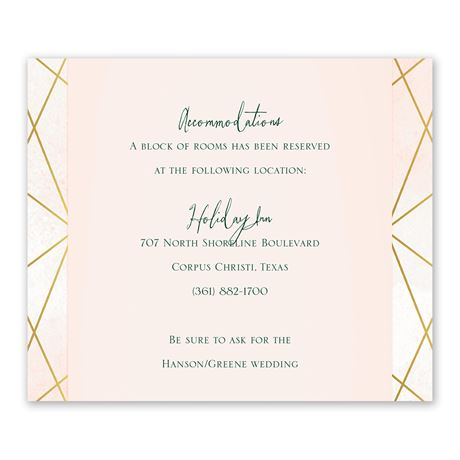 Modern Chic Information Card