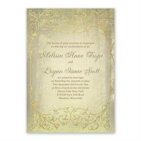 Woodland Fairy Tale - Invitation with Free Response Postcard