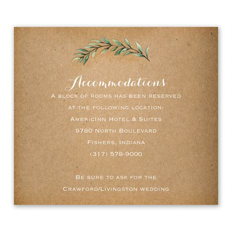 Country Boho Information Card