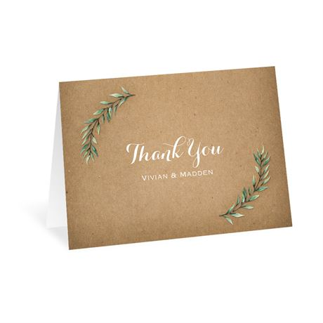 Country Boho Thank You Card
