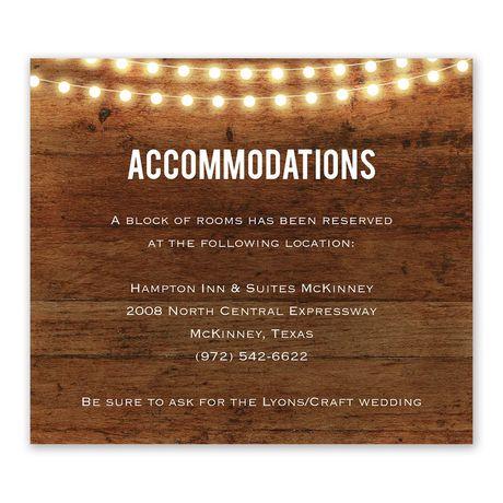 Brilliant Lights - Information Card