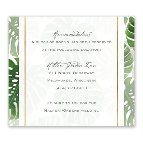 Pretty Palms Information Card