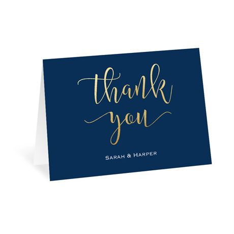 Golden Gratitude - Thank You Card