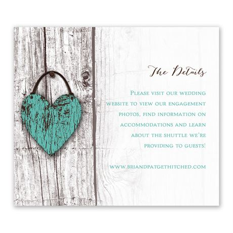 Wood Heart - Information Card